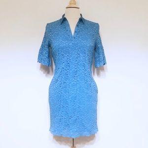 BOGO Banana Republic Lace Blue Dress Petite PS SP